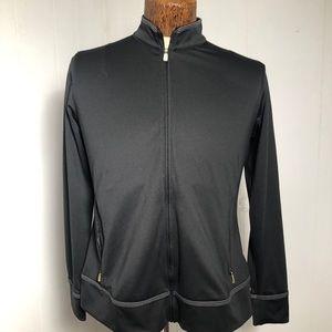 Womens Black Athletic Wear Jacket. Adidas. Medium